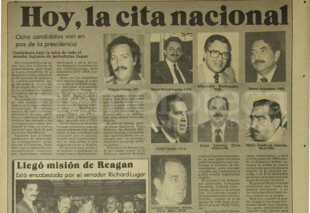 Nota sobre los primeros comicios democráticos, de 1985. (Foto: Hemeroteca PL)