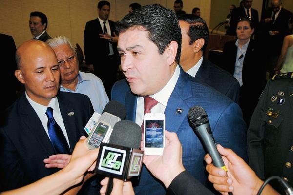 El presidente de Honduras Juan Orlando Hernández  hablará sobra el plan de desarrollo regional.