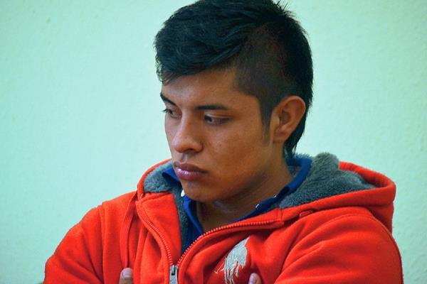 Gilman Iván  Gramajo Poroj, jugador de la Sub 20, del Club Xelajú,  es enviado a juicio acusado de lesiones leves. (Foto Prensa Libre: Alejandra Martínez)