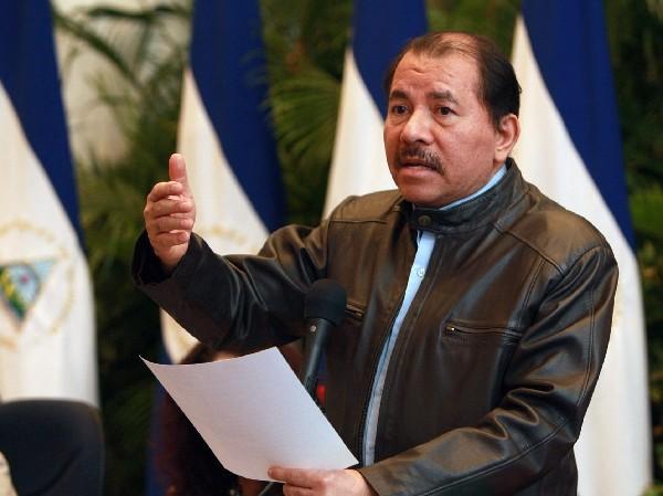El presidente de Nicaragua, Daniel Ortega, dirige un mensaje a la nación.