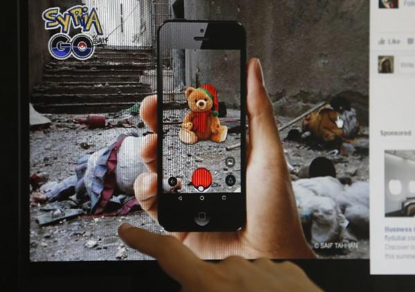 Un artista sirio utiliza el juego Pokémon para describir las cicatrices de la guerra.