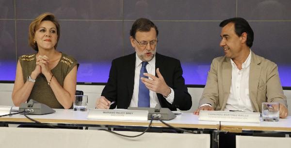 Mariano Rajoy participa en la reunión del Comité Ejecutivo Nacional del PP. (Foto Prensa Libre: AFP).