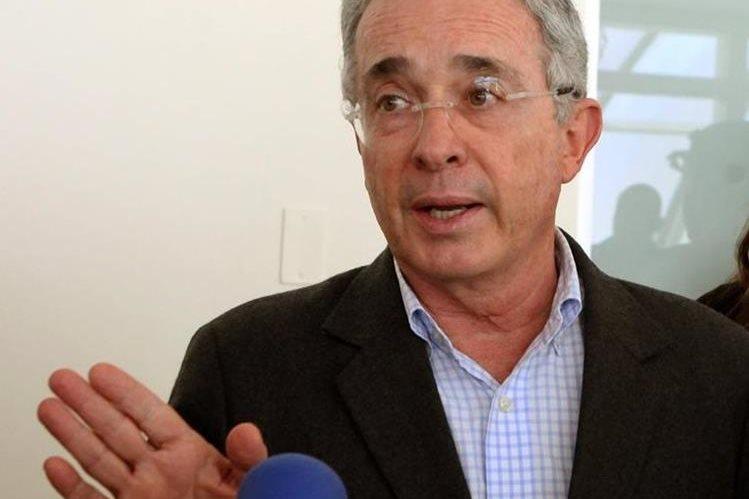 Álvaro Uribe, expresidente de Colombia. (Foto Prensa Libre: EFE).