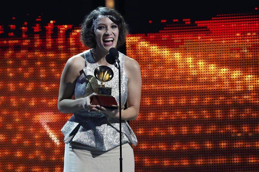 Gaby Moreno ganó el Grammy a mejor artista nuevo en el 2013. (Foto Prensa Libre: Hemeroteca PL)
