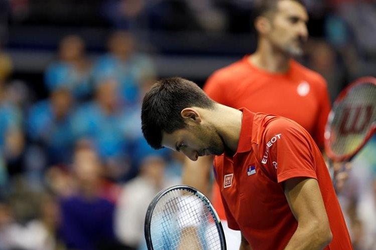Djokovic se quedó con las ganas de celebrar en dobles de la Copa Davis. (Foto Prensa Libre: AP)