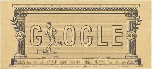 Los primeros Juegos Olímpicos de la era moderna se celebraron en Atenas hace 120 años, y Google lo celebra con diferentes doodles. (Foto Prensa Libre: google.com).