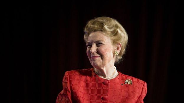 Phyllis Schlafly hizo también campaña contra el matrimonio homosexual, el aborto, la educación sexual en las escuelas. GETTY IMAGES
