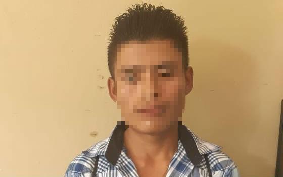 Juan Gabriel Zacarías Ramos, de 22 años, es el principal sospechoso de haber estrangulado a su hijo. (Foto Prensa Libre: Mario Morales)