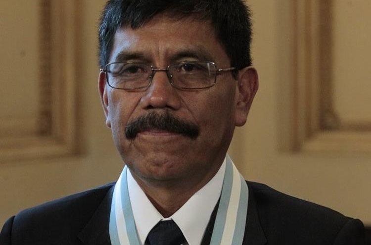 Luis Javier Crisóstomo galardonado en la Ceremonia de entrega de la Orden Nacional Francisco Marroquín. (Foto por Carlos Hernández)