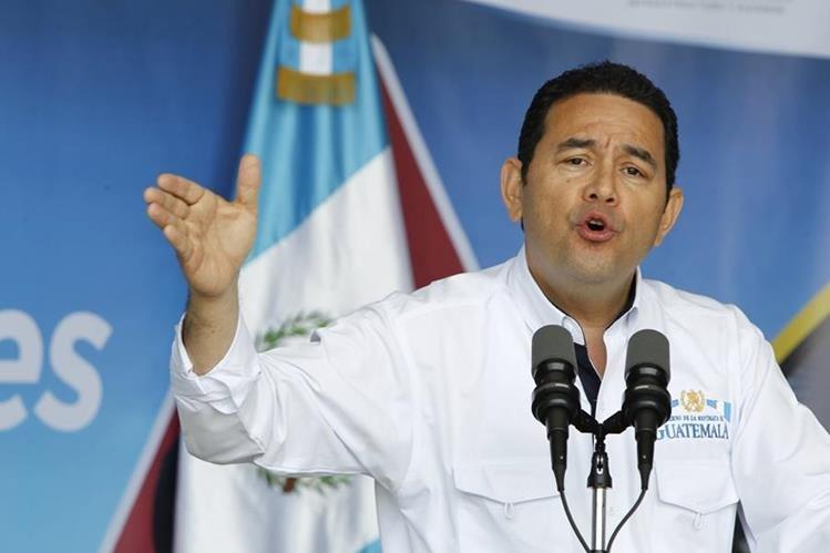 Jimmy Morales afirmó que no defenderá a la Cicig de los rumores que han surgido contra el trabajo que realiza. (Foto Prensa Libre: Paulo Raquec)