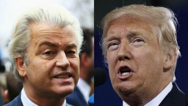 Rutte fue uno de los muchos que comparó una potencial victoria de Wilders con el Brexit y la presidencia de Trump. AP Y GETTY IMAGES