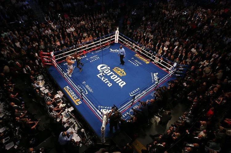Así lució el T-Mobile Arena en Las Vegas, Nevada.