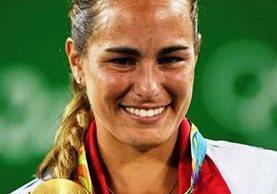 Mónica Puig hizo historia al ganar en tenis la primera medalla oro olímpica para Puerto Rico. (Foto Prensa Libre: AFP).