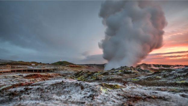 El estudio se realizó en la región geológicamente activa de Reykjanes, Islandia. (GETTY IMAGES)