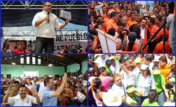 Candidatos intensifican giras de campaña en la provincia. (Foto Prensa Libre: corresponsales)