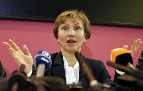 Marina Litvinenko, esposa del exespía ruso  Alexander Litvinenko.