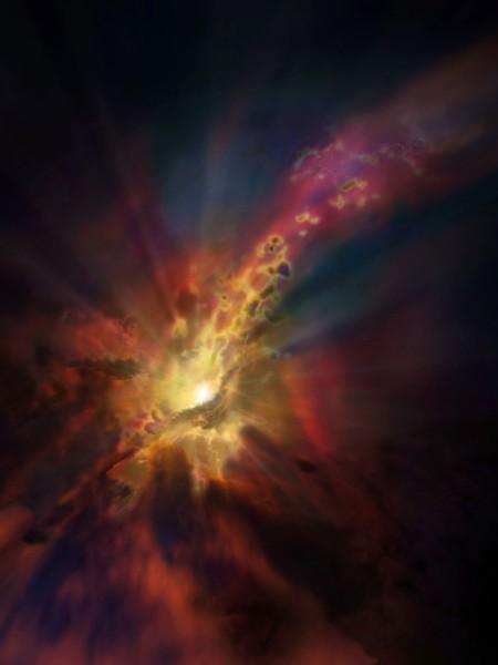 El enorme agujero negro se exhibe una foto artitíca. (Foto Prensa Libre:AFP).