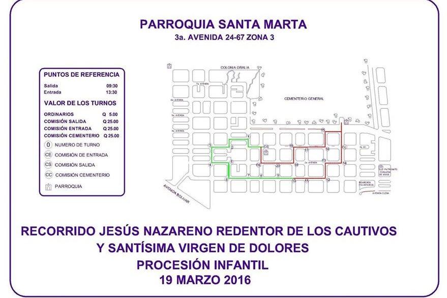 Recorrido de la Procesión Infantil de la Parroquia Santa Marta, zona 3, 19 de marzo de 2017. (Foto: Hemeroteca PL)