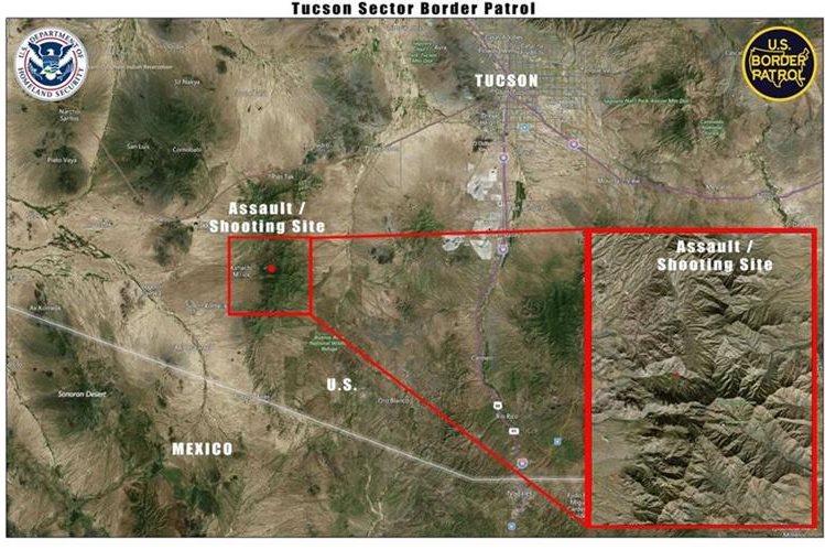 Área donde ocurrió el incidente armado que involucra a guatemaltecos. (Foto Prensa Libre: CBP)