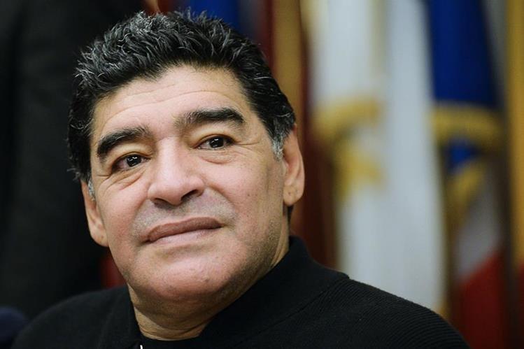 Diego Maradona habló de todo un poco en una entrevista con TyC Sports desde Dubaí. (Foto Prensa Libre: Hemeroteca PL