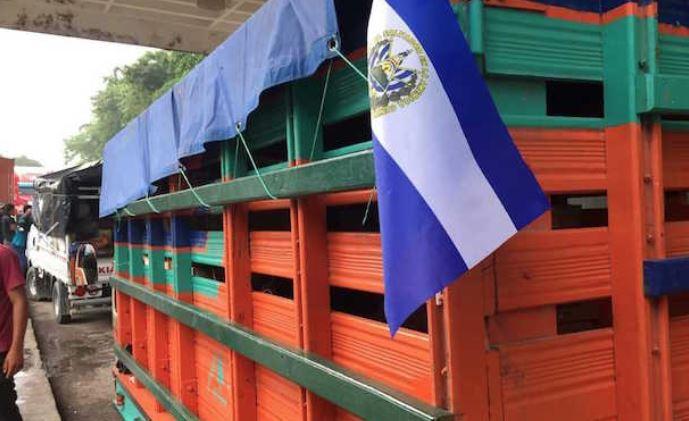 Camiones varados en la aduana. (Foto Prensa Libre: Mario Morales)