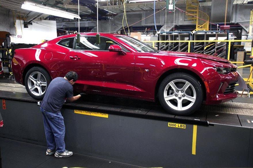 La planta de montaje de Lansing, en Michigan, en EE.UU. (Foto Prensa Libre: AFP)