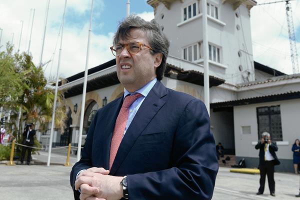 El presidente del Banco Interamericano de Desarrollo (BID), Luis Alberto Moreno. (Foto Prensa Libre: AFP / JOHAN ORDONEZ).