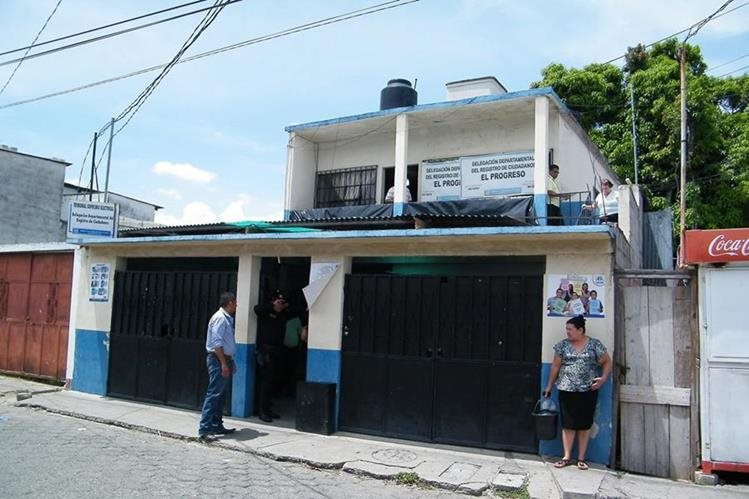 Sede del Tribunal Supremo Electoral en Guastatoya, El Progreso. (Foto Prensa Libre: Héctor Contreras)