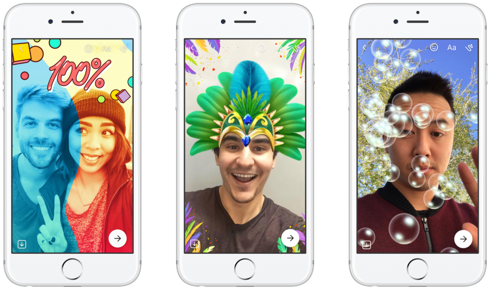 La idea de Messenger Day es compartir el día a día de una manera más relajada, ya que lo que se publica se borra pasadas 24 horas. (Foto Prensa Libre: Facebook).
