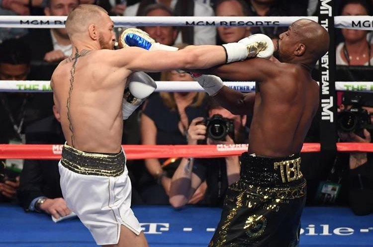 El combate entre Floyd Mayweather Jr. y Conor McGregorfue parejo en los primeros round.