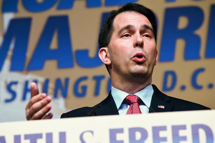 Scott Walkerse convierte en el candidato republicano a la Presidencia número 15. (Foto Prensa Libre:AP).