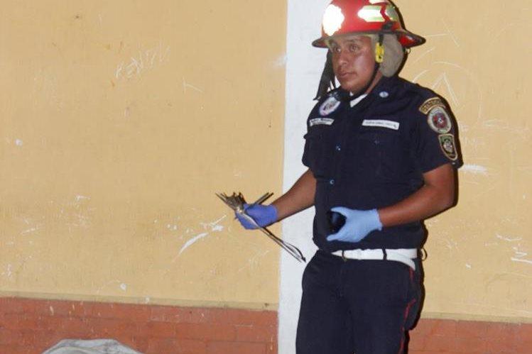 Jimmy Omar Cartagena Botello, de 15 años, fue atacado en El Tejar, Chimaltenango. (Foto Prensa Libre: Víctor Chamalé)