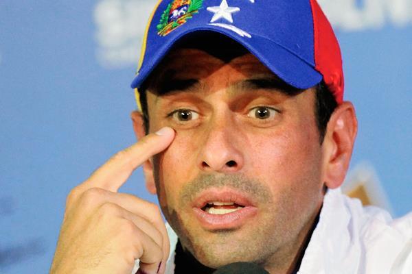 Henrique Capriles, llamó a la oposición a unirse. (Foto Prensa Libre:AP).