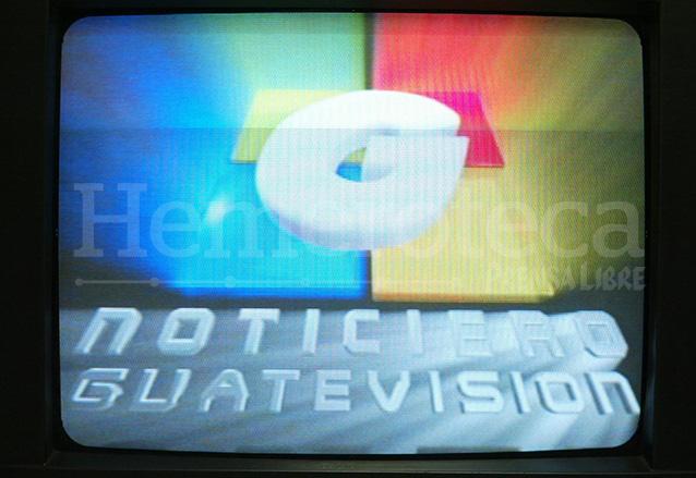 Primera emisión del noticiero Guatevisión el 21 de marzo de 2003. (Foto: Hemeroteca PL)