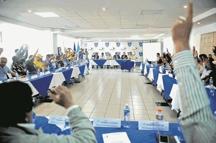 Asamblea extraordinaria del futbol celebrada en el Proyecto Goal de la zona 15, el sábado 16 de septiembre de 2017.