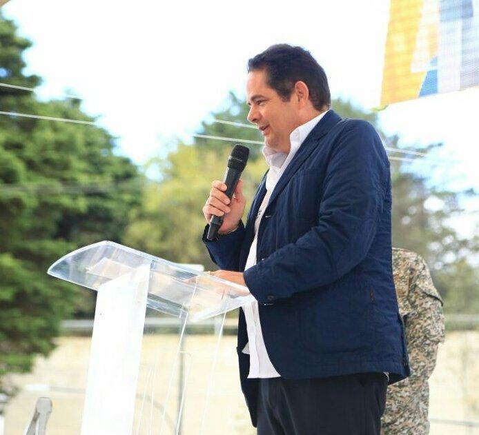 Germán Vargas Lleras, vicepresidente de Colombia, durante un acto público en su país. (Foto Twitter/@German_Vargas).