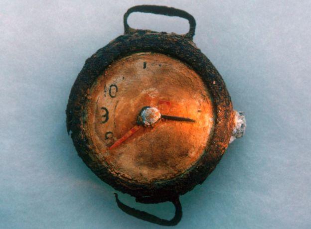 El momento exacto de la explosión quedó congelado para siempre en este reloj que se encontró en Hiroshima. (SCIENCE PHOTO LIBRARY)