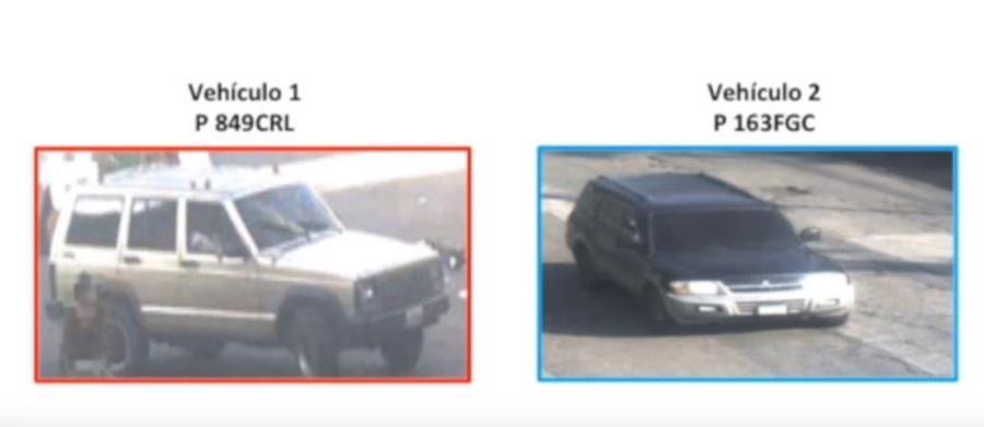Los criminales usaron estos dos carros para cometer el secuestro. (Foto Prensa Libre: MP)