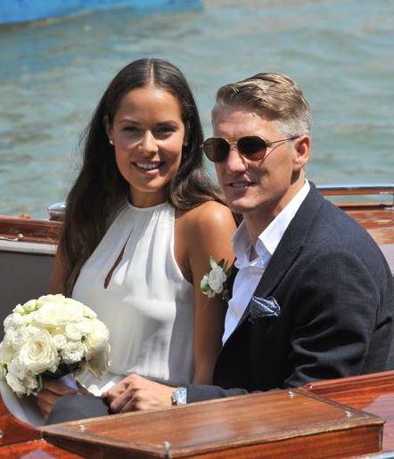La boda religiosa de Ana Ivanovic y Bastian Schweinsteiger será este miércoles. (Foto Prensa Libre: Diario Bild)