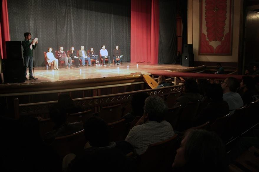 El teatro municipal de Xela fue testigo de la inauguración del Festival. (Foto Prensa Libre: Carlos Ventura).