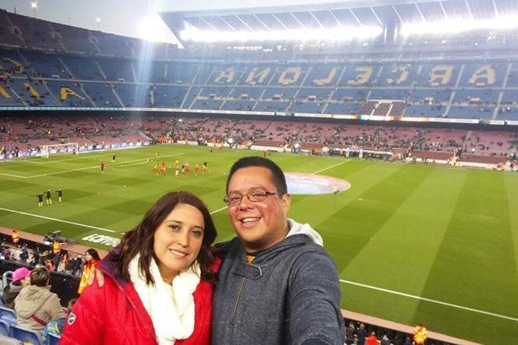 Roberto Villalobos es un guatemalteco aficionado al Barcelona. (Foto Prensa Libre: Cortesía Roberto Villalobos)
