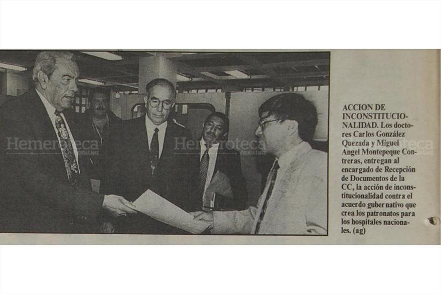 Interponen acción de inconstitucionalidad contra patronatos, en 1995. (Foto: Hemeroteca PL)