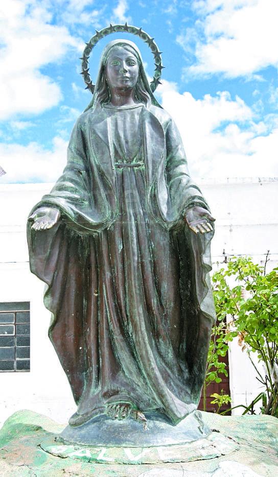 04/01/2009. La Virgen en la plazuela de La Paz. (Foto: Hemeroteca PL)