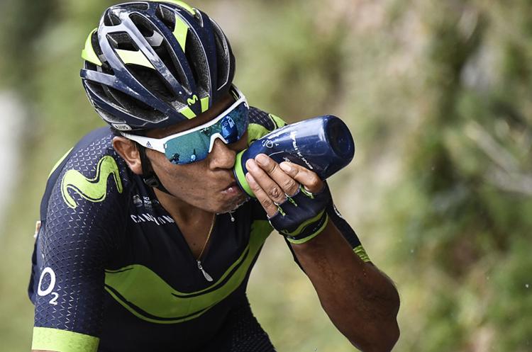 El colombiano Nairo Quintana ha sufrido durante el Tour y está muy lejos de los punteros. (Foto Prensa Libre: AFP)