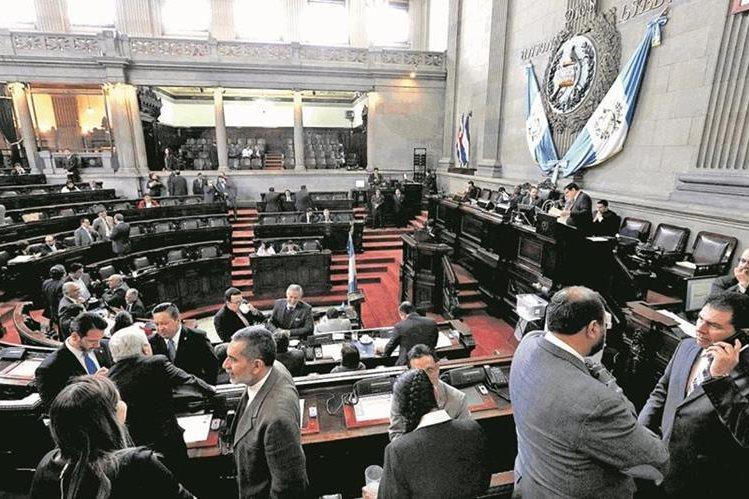 Hemiciclo del Congreso de la República durante la sesión plenaria del 17 de enero. (Foto Prensa Libre: Hemeroteca PL).