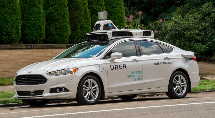 Vehículo autónomo Uber de prueba en la ciudad de Pittsburg, Pensilvania. (Foto Hemeroteca PL)