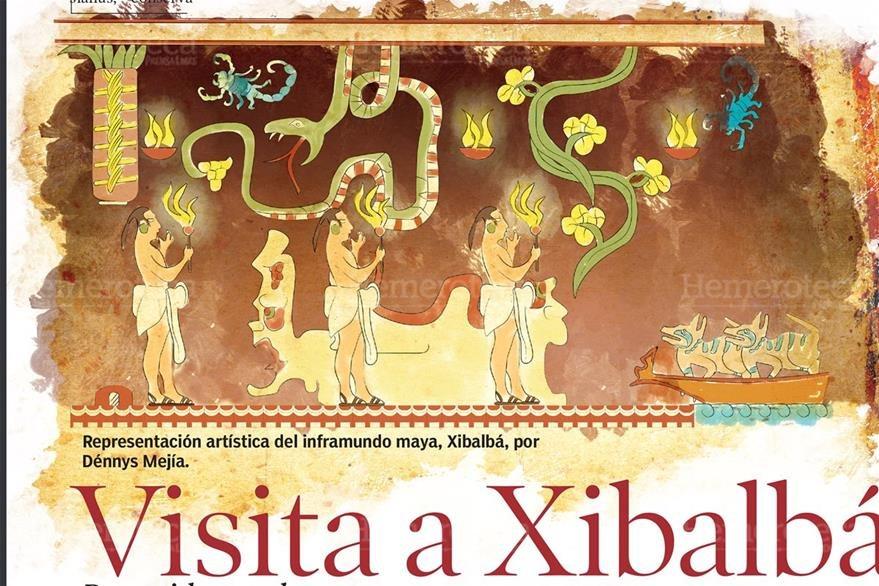 Representación de Xibalbá en el Popol Vuh. (Foto: Hemeroteca PL)