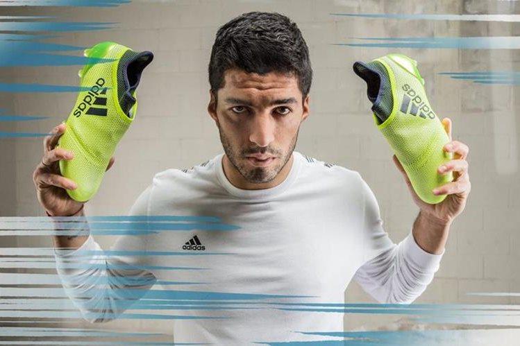 Luis Suárez usará los nuevos zapatos con la tecnología de Adidas. (Foto Prensa Libre: Adidas)