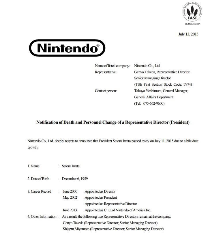 Comunicado de Nintendo. (Foto Prensa LibrE: Nintendo.com)