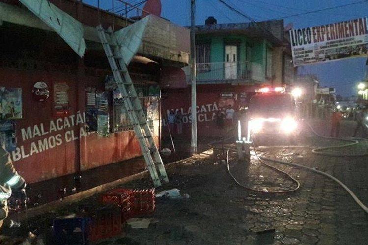 Vista del inmueble siniestrado en el cantón Barrios de Malacatán, San Marcos. (Foto Prensa Libre: Whitmer Barrera)